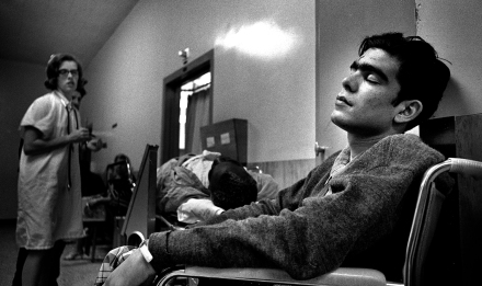 The Drifter at San Francisco General Hospital. It was cold that day and the hospital was busy. There was no room in the waiting area so the Drifter was placed in the hallway among others waiting for medical care. The hospital was working on the triage system so the wait was long. He never complained.