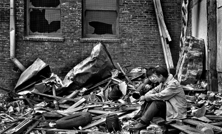 When this photo was taken, the Eskimo, a retired merchant marine, a homeless alcoholic, was telling me that one-day he would be rich. A few months later, he died in an alley from exposure. About six months later, a Pinkerton investigator called me to help locate the guy. He was hired by his family to notify him that he inherited a large sum of money as a result of the Alaskan oil find.
