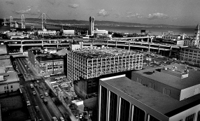 View from the Pac Tel building at 666 Folsom St. looking towards the East Bay.
