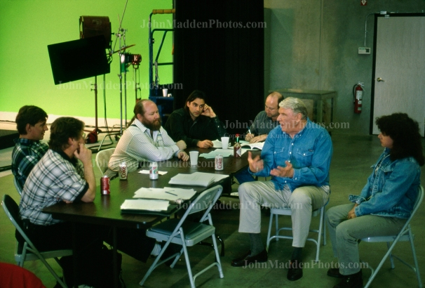 1996 Commercial filming break at Goal Line Productions.